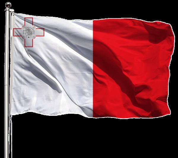 Malta Flagge Querformat Premium-Qualität