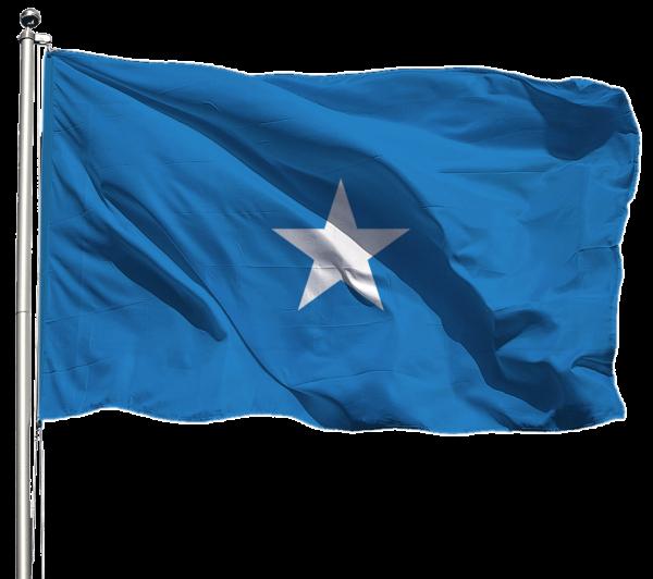 Somalia Flagge Querformat Premium-Qualität