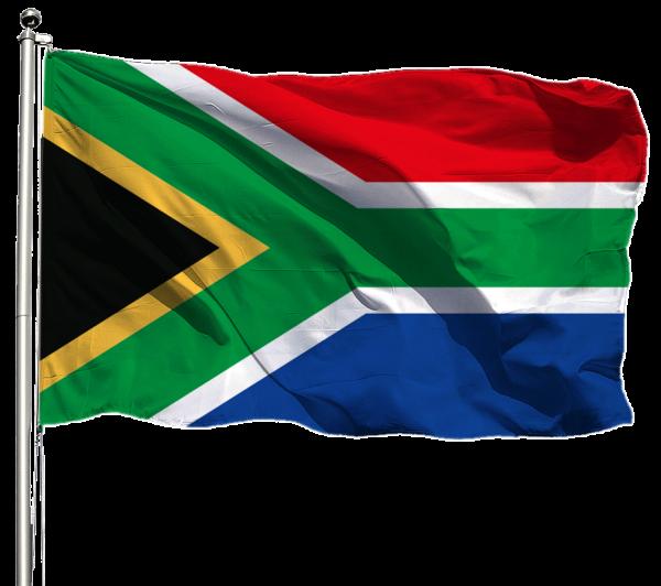Südafrika Flagge Querformat Premium-Qualität