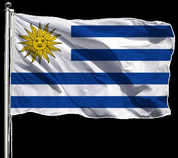 Uruguay Flagge Querformat Premium-Qualität
