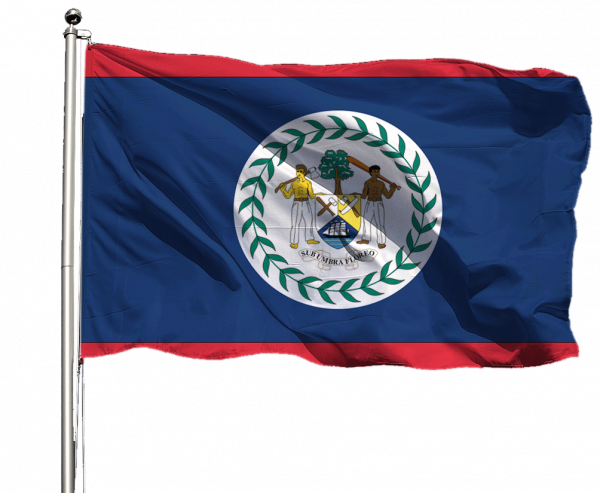 Belize Flagge Querformat Premium-Qualität
