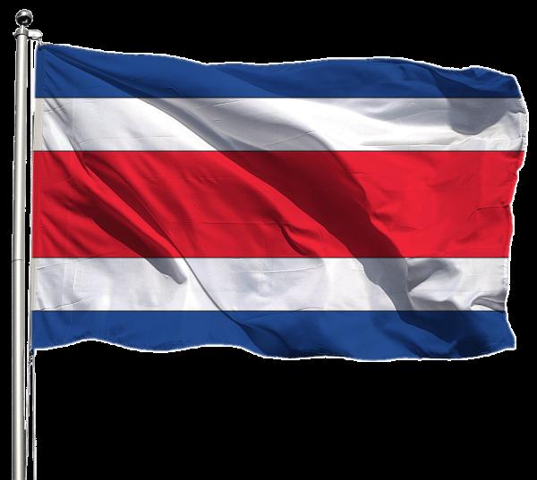 Costa Rica Flagge Querformat Premium-Qualität