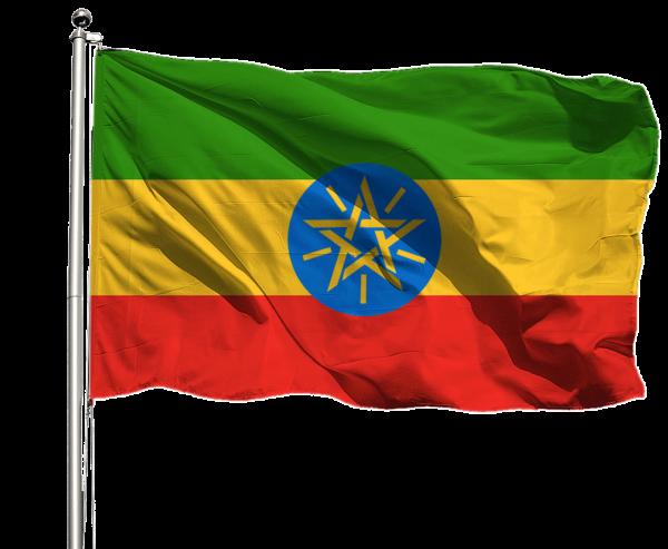 Äthiopien Flagge Querformat Premium-Qualität