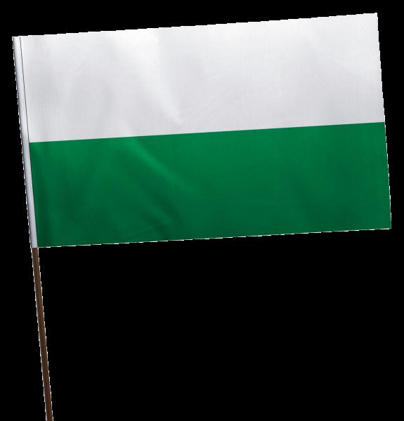 Stockflagge Sachsen ohne Wappen Premium-Qualität