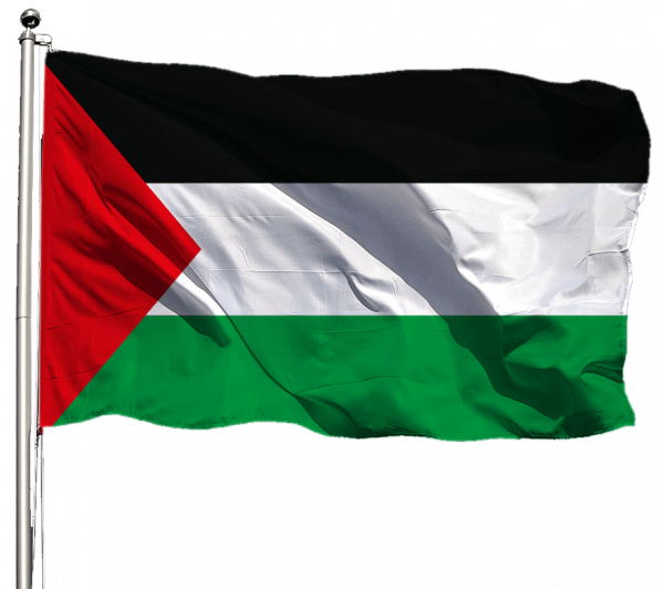 Palästina Flagge Querformat Premium-Qualität