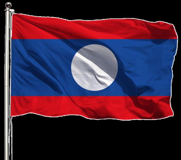 Laos Flagge Querformat Premium-Qualität