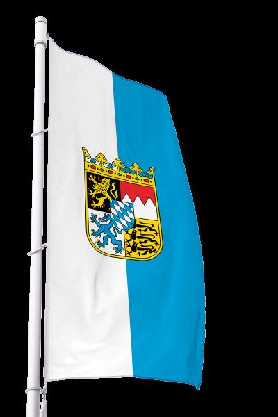 Flagge Bayern Dienst mit Wappen im Hochformat Premium