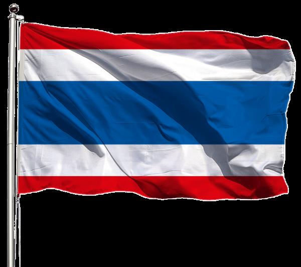 Thailand Flagge Querformat Premium-Qualität