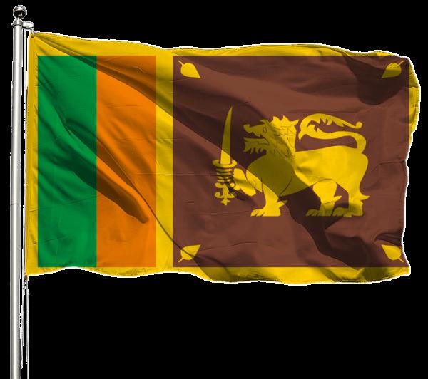 Sri Lanka Flagge Querformat Premium-Qualität