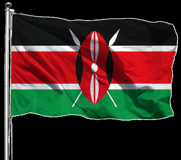 Kenia Flagge Querformat Premium-Qualität