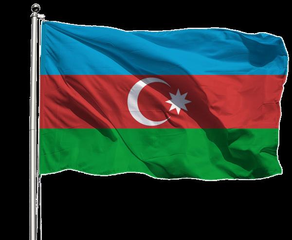 Aserbaidschan Flagge Querformat Premium-Qualität
