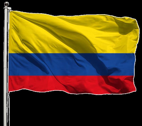 Kolumbien Flagge Querformat Premium-Qualität
