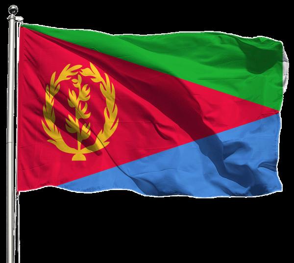 Eritrea Flagge Querformat Premium-Qualität