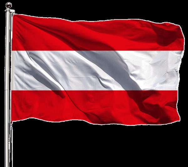 Österreich Flagge Querformat Premium-Qualität