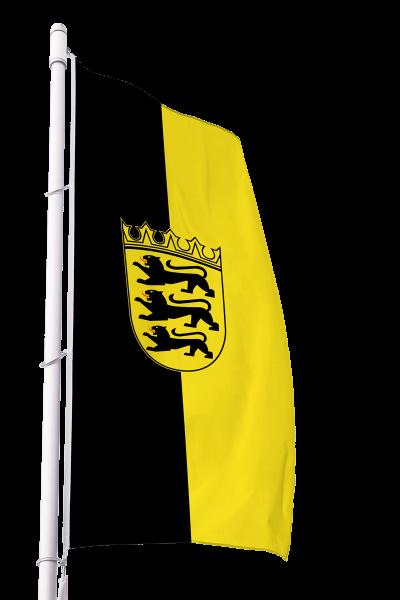 Flagge Baden Württemberg mit Wappen im Hochformat Premium
