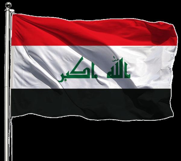 Irak Flagge Querformat Premium-Qualität