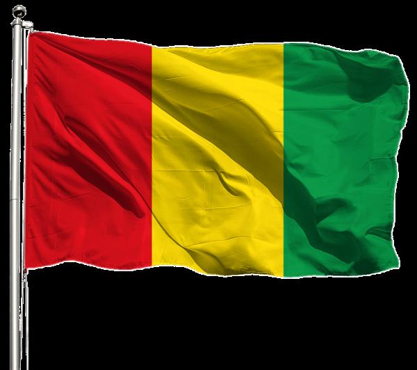 Guinea Flagge Querformat Premium-Qualität