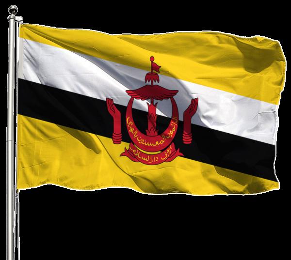 Brunei Flagge Querformat Premium-Qualität