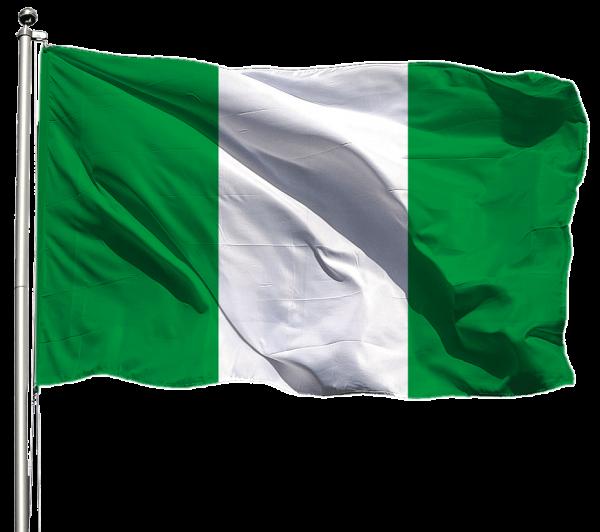 Nigeria Flagge Querformat Premium-Qualität