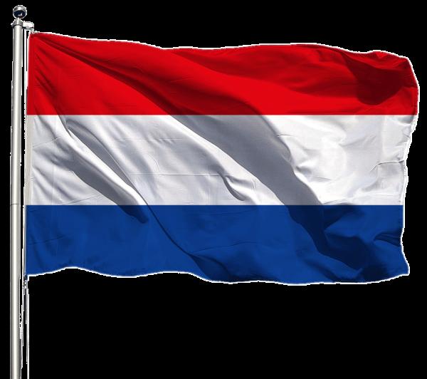Niederlande Flagge Querformat Premium-Qualität