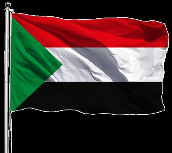 Sudan Flagge Querformat Premium-Qualität