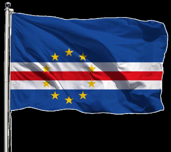 Kap Verde Flagge Querformat Premium-Qualität