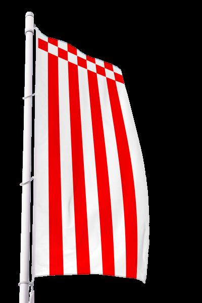 Flagge Bremen ohne Wappen im Hochformat Premium