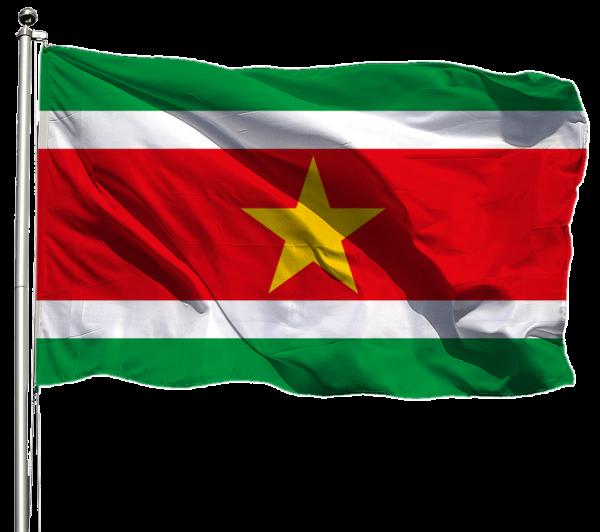 Suriname Flagge Querformat Premium-Qualität