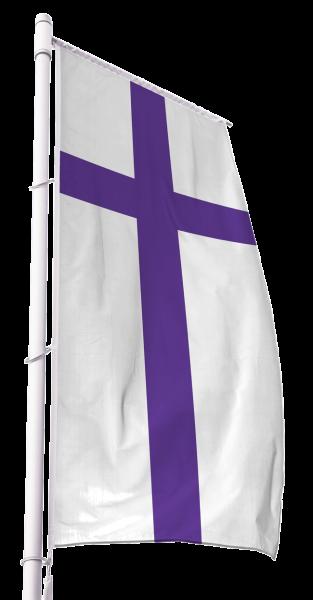 Evangelische Kirchenfahne im Hochformat Premium
