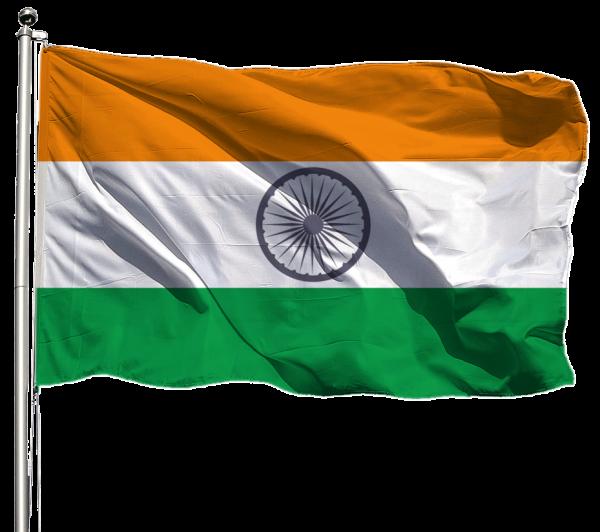 Indien Flagge Querformat Premium-Qualität