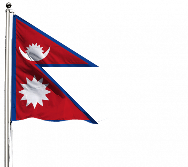 Nepal Flagge Querformat Premium-Qualität