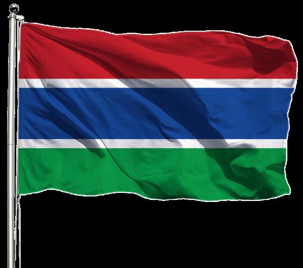 Gambia Flagge Querformat Premium-Qualität