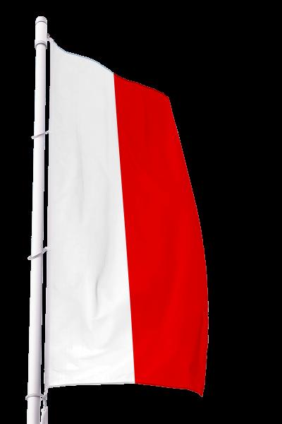 Flagge Thüringen ohne Wappen im Hochformat Premium