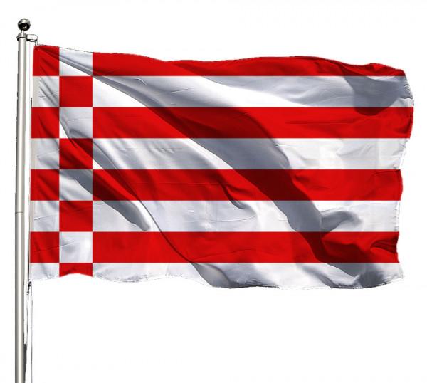 Flagge Bremen o. Wappen Querformat Premium-Qualität