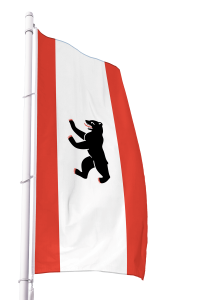 Flagge Berlin im Hochformat Premium