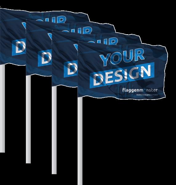 Eckfahnen mit Logo 45 x 35 cm ohne Begrenzungsstange