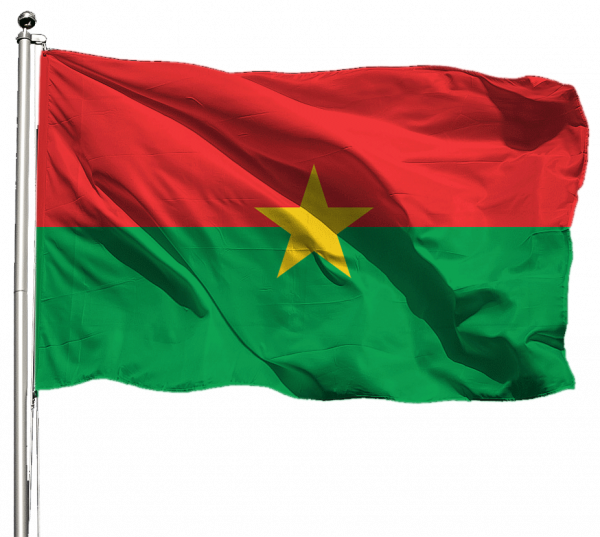 Burkina Faso Flagge Querformat Premium-Qualität