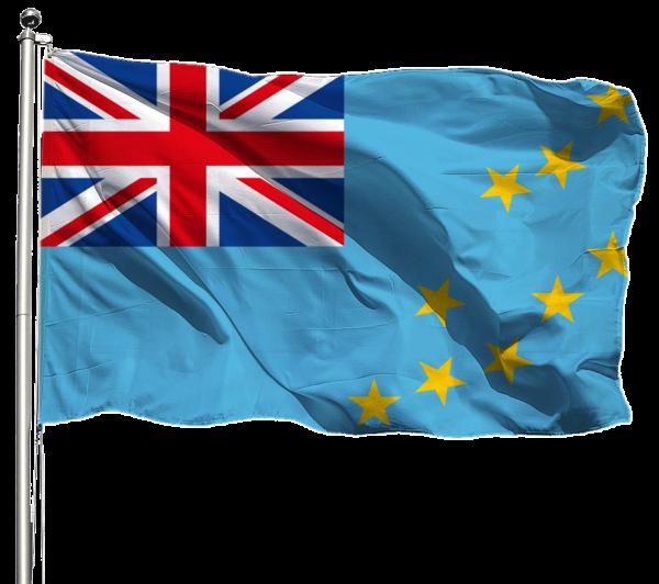 Tuvalu Flagge Querformat Premium-Qualität