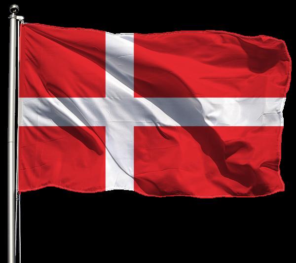 Dänemark Flagge Querformat Premium-Qualität