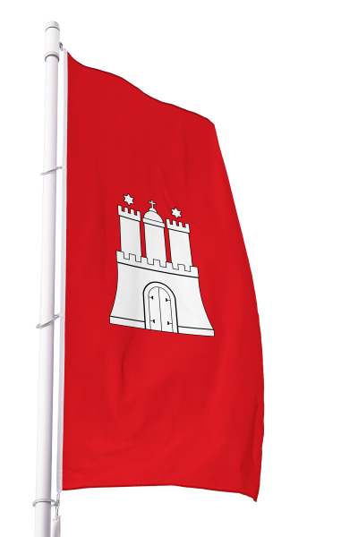 Flagge Hamburg im Hochformat Premium
