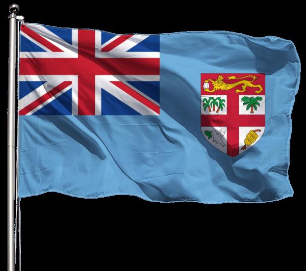 Fidschi Flagge Querformat Premium-Qualität