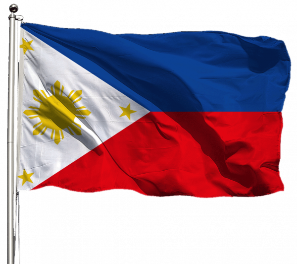 Philippinen Flagge Querformat Premium-Qualität