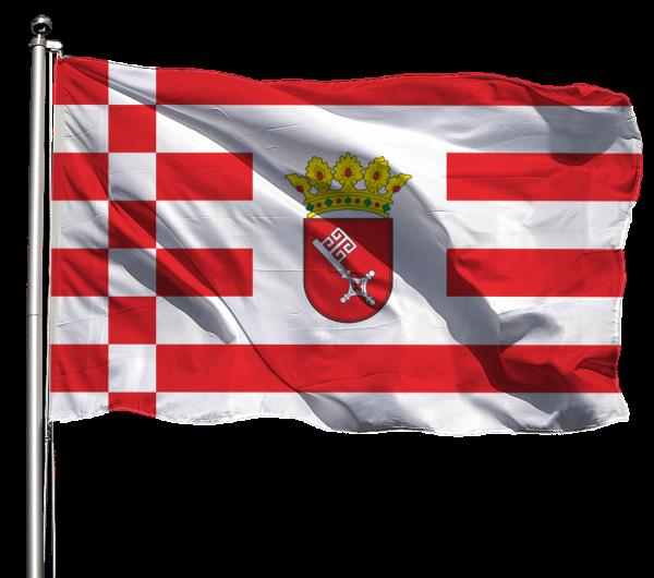 Flagge Bremen mit Wappen Querformat Premium-Qualität