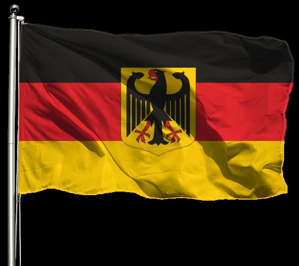 Deutschland mit Adler Flagge Querformat Premium-Qualität