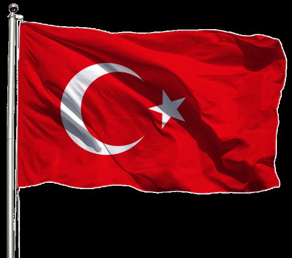 Türkei Flagge Querformat Premium-Qualität