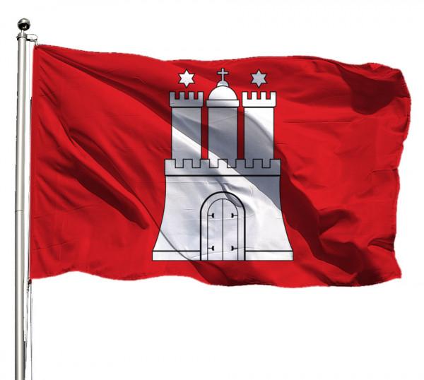 Flagge Hamburg Querformat Premium-Qualität