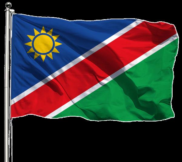 Namibia Flagge Querformat Premium-Qualität