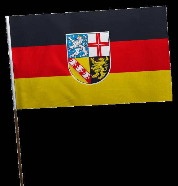 Stockflagge Saarland Premium-Qualität