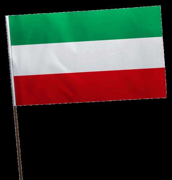 Stockflagge Nordrhein-Westfahlen ohne Wappen Premium-Qualität