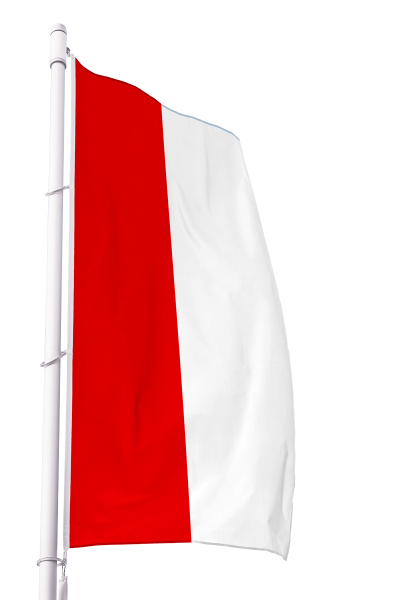Flagge Hessen ohne Wappen im Hochformat Premium